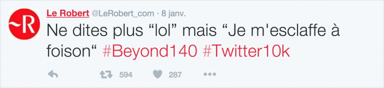 Lol, Mdr, Ptdr, tkt, WTF, Le Robert n'en oublie pas et leur donne un équivalent en joli français