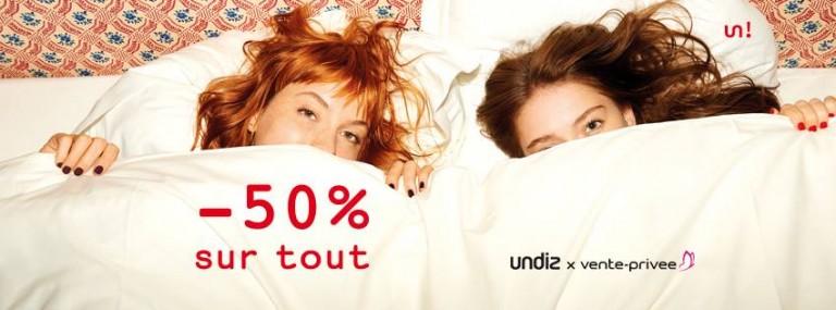 Cet hiver, Undiz s'est s'associée à vente-privee.com en y présentant l'intégralité de sa collection lingerie soldées