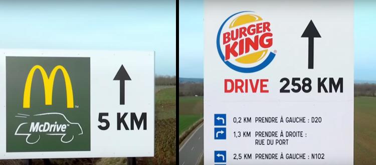 Round 1 : Mc Do tacle Burger King en montrant sa proximité avec les français