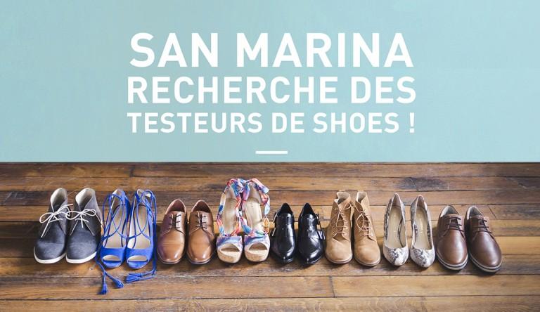 San Marina recherche 6 testeurs de chaussures pour le mois d'avril !