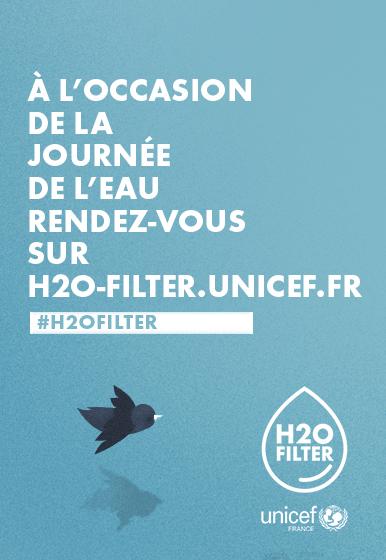 L'Unicef et Publicis Conseil lancent le H2OFilter pour récupérer l'eau potable présent sur Twitter