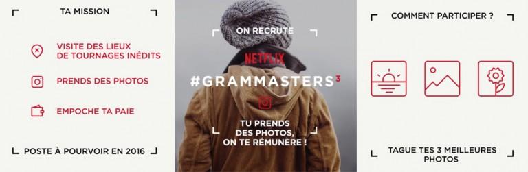 Netflix ouvre son concours Grammasters à la France pour voyager et poster des photos sur Instagram