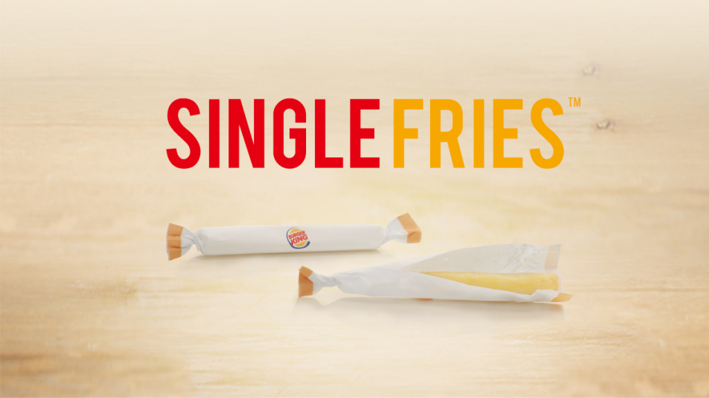 Burger King annonce se lancer dans les frites à l'unité