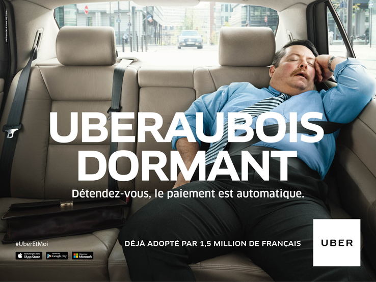 Avec Uber, détendez-vous le paiement est automatique