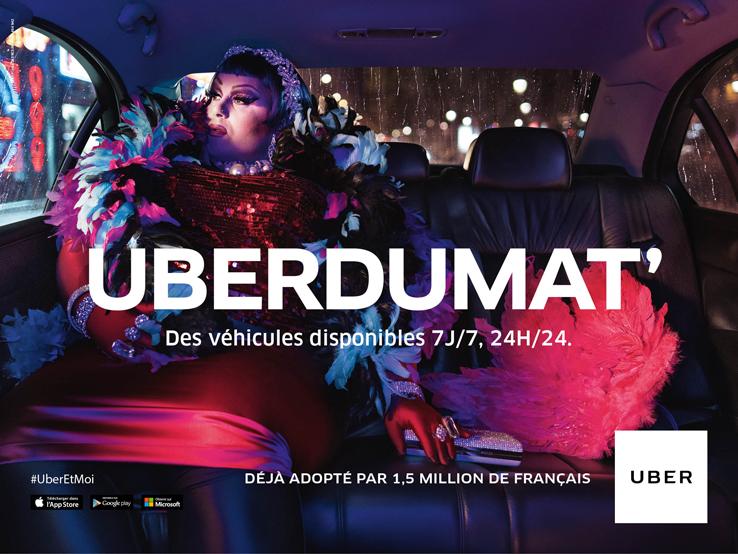 les véhicules Uber sont disponibles 7jours/7 24h/24