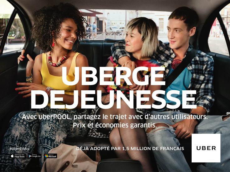 Avec UberPool, partagez votre trajet avec d'autre utilsateurs pour un prix encore plus réduit