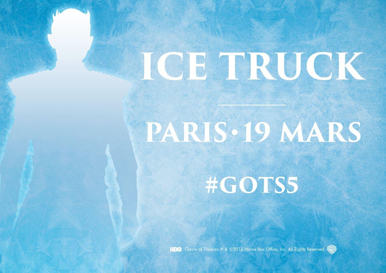 L'agence Passage Piéton collabore avec la Warner Bros pour la mise en place d'une dégustation de glaces dans les rues de Paris avec les terrifiants Marcheurs Blancs