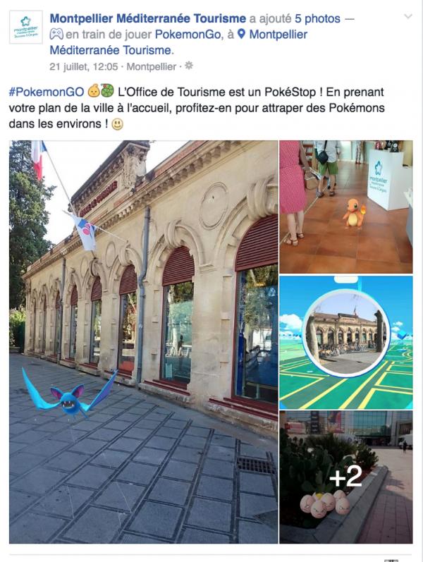 L'office de tourisme de montpellier attire les touristes avec les pokémons
