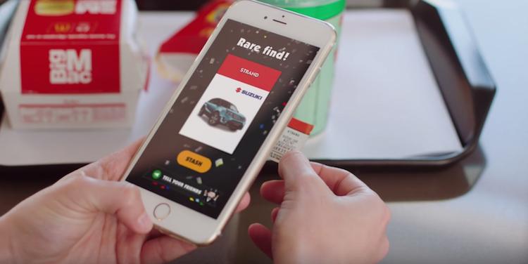 Pour jouer il suffit de scanner ses vignettes Monopoly récupérées sur les produits McDonald's via l'application dédiée