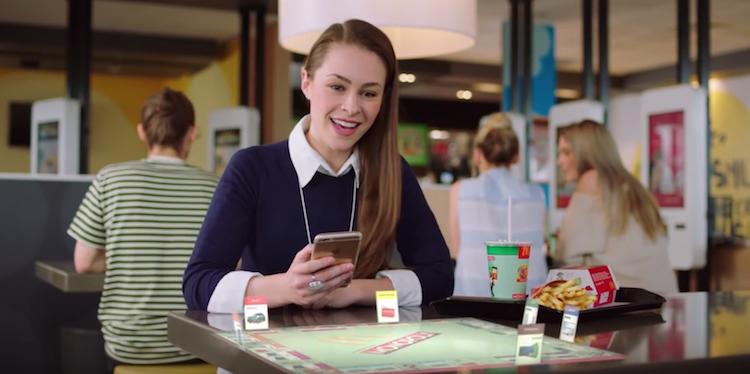 En Australie, Mcdonald's lance une application en réalité augmentée pour jouer à son jeu Monopoly