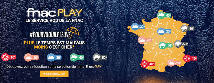 La Fnac et GloryParis lancent l'opération #pourvuquilpleuve pour faire la promotion de FnacPlay