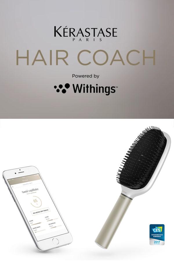 Lors du Consumer Electronics Show de Las Végas L'Oréal et Withings ont présenté une brosse connectée pour prendre soin de ses cheveux