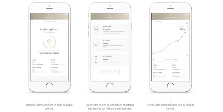 Après chaque brossage, un bilan et une analyse est proposée dans l'appli mobile de l'utilisatrice où elle retrouve aussi des conseils