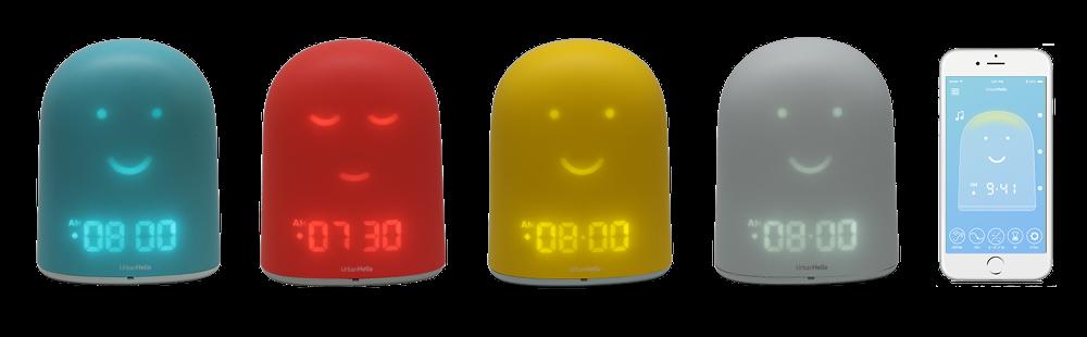 En plus de sa fonction réveil, REMI fait office de veilleuse, babyphone ou encore enceinte audio et se paramètre via l'appli mobile dédiée