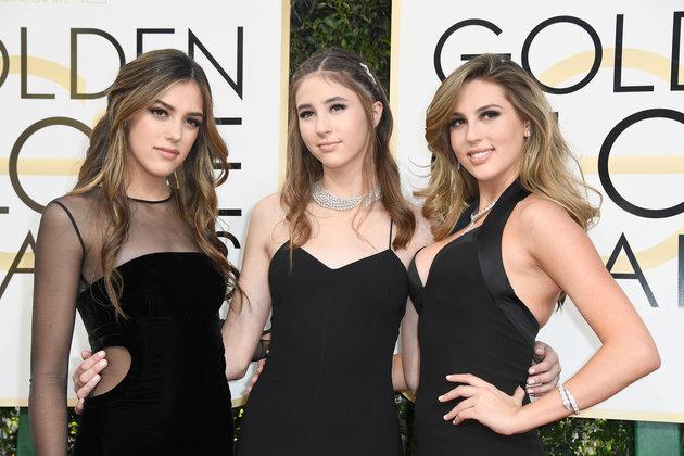 les trois filles de Sylvester Stallone, Sophia, Sistine et Scarlett ont éblouies les golden Globes