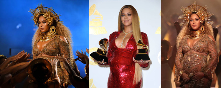 Beyoncé a illuminé la soirée des Grammy avec une prestation magistrale version ode à la maternité