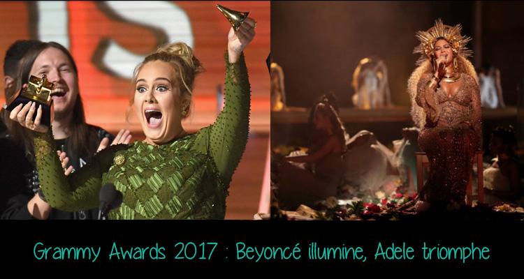 Adele a tout raflé sur son passage tandis que Beyoncé repart avec 2 Grammy mais offre une prestation divine façon déesse de la maternité