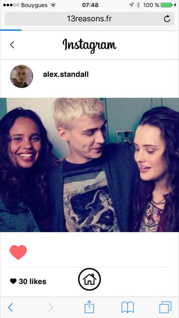 netflix nous dévoile le flux instagram d'Hannah Baker