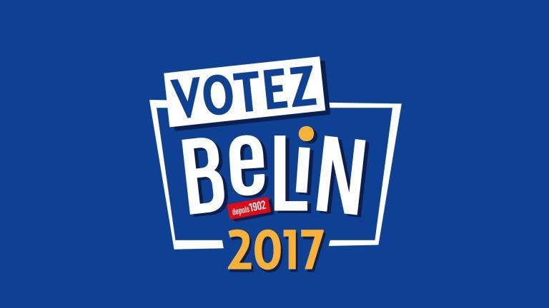 Via un dispositif web plein d'humour Belin détourne tous les codes des élections de manière décalée