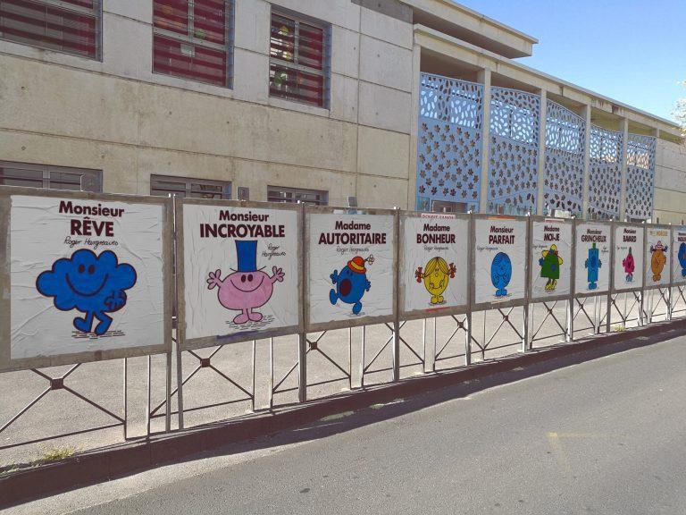 Efix, un street artiste montpelliérain a voulu rendre les élections plus joviales en remplaçant les portraits des candidats par des monsieur madame