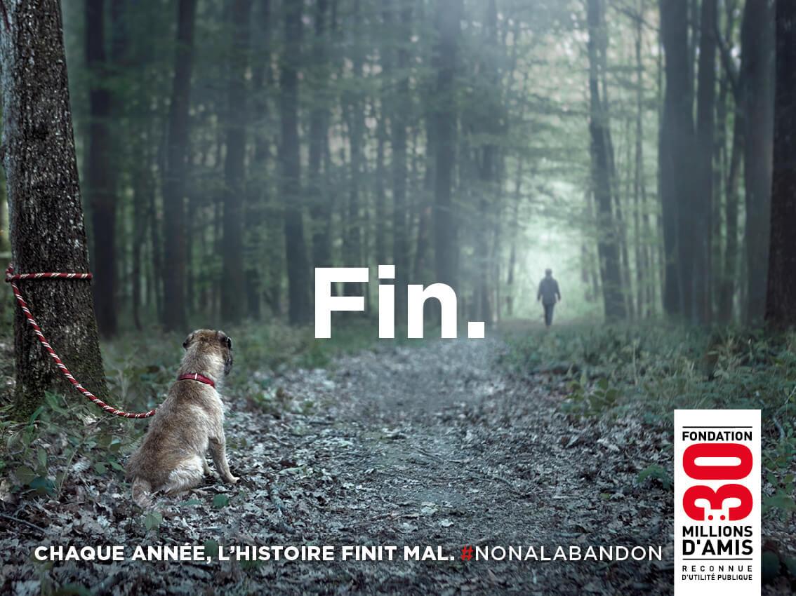 La Fondation 30 Millions d'Amis repart en campagne avec l'agence Buzzman et diffuse un nouveau spot saisissant pour dire non à l abandon