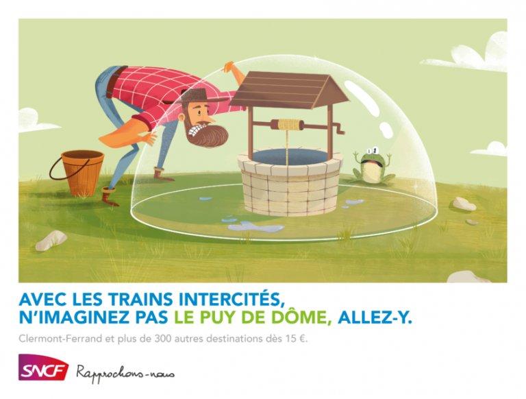 Y'a t-il un dôme sur le puy à Clermont Ferrand ? Allez vérifier avec les trains intercités de la SNCF