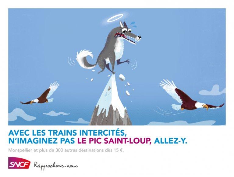 Un Loup sur le Pic Saint Loup à Montpellier ? N'imaginez plus et allez y avec la sncf