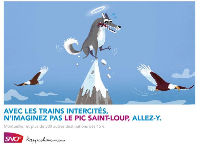 Un Saint Loup sur le Pic Saint Loup à Montpellier ? N'imaginez plus et allez y avec la sncf