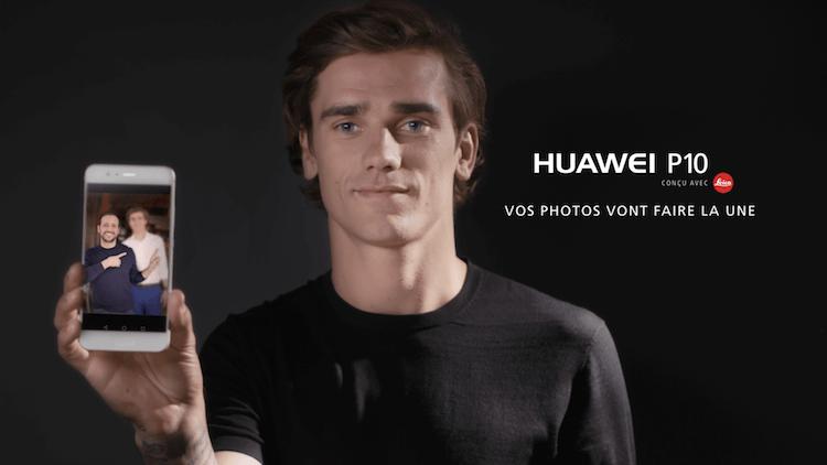 Antoine Griezmann a changé la vie d'un homme flou grâce à son Huawei p10