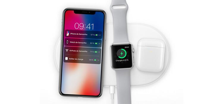 Composés de verres,l'iPhone X, 8 et 8+ et l'Apple Watch Series 3 seront compatibles avec la recharge sans fil