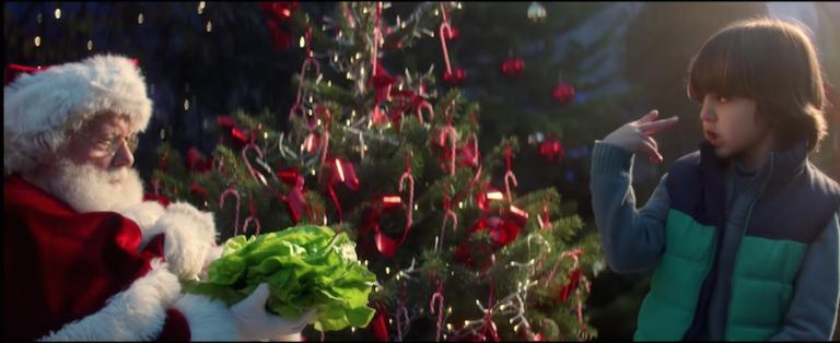 un petit garçon se donne pour mission de faire maigrir le Père Noël afin qu'il passe par la cheminée pour Noël