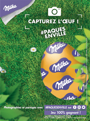Milka lance son opération#PAQUESENVILLE avec l'agence Mad&Woman, pour permettre à TOUS les français, même sans jardin, de vivre une chasse aux oeufs inédite.