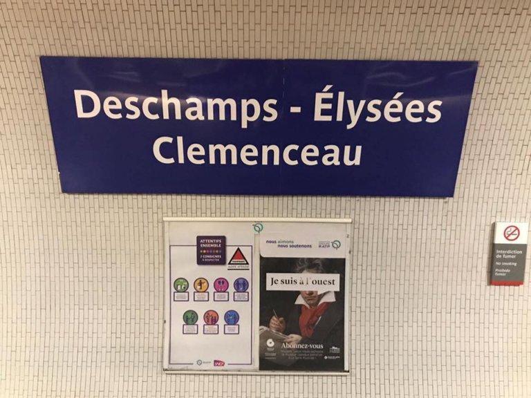 """la stationChamps Elysées-Clémenceau a été changé en """"Deschamps Elysées - Clémenceau"""""""