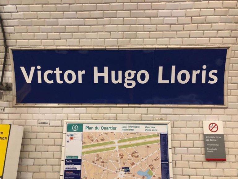 """la station Victor Hugo renommée en """"Victor Hugo Lloris"""""""