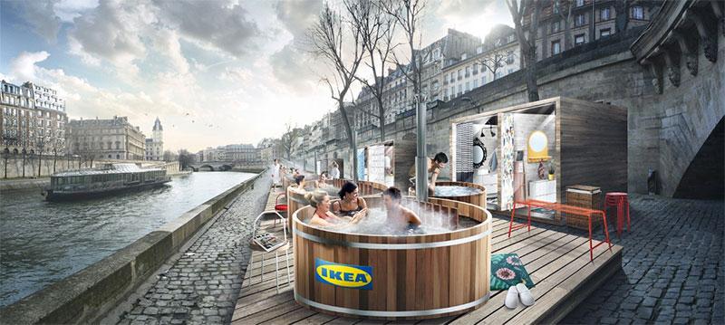 Du 1er au 3 mars, IKEA et Ubi Bene proposent aux parisiens de vivre une expérience 100% scandinave avec son opération Les Bains IKEA.
