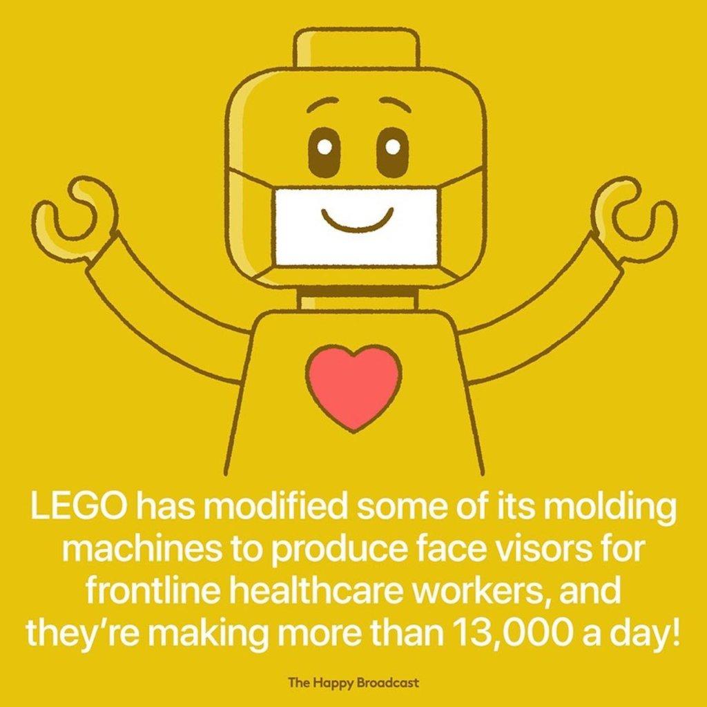 Lego a produit des visières pour le personnel soignant