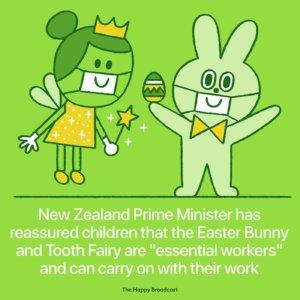 Lapin de Pâques et petite souris continuent de travailler