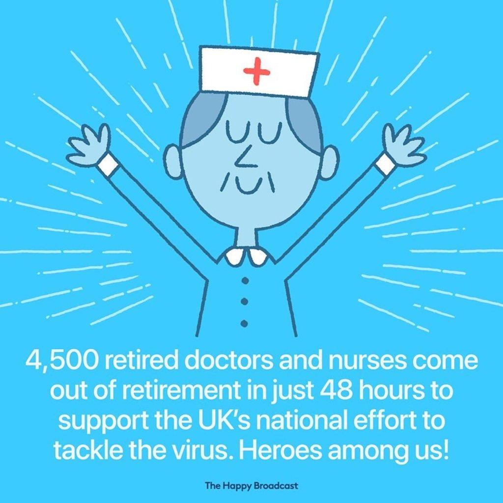 4 500 docteurs et infirmiers sont sortis de leur retraite pour aider au Royaume Uni