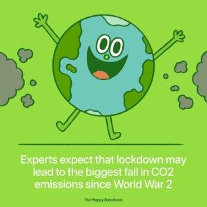Baisse d'émission de CO2 pendant le confinement