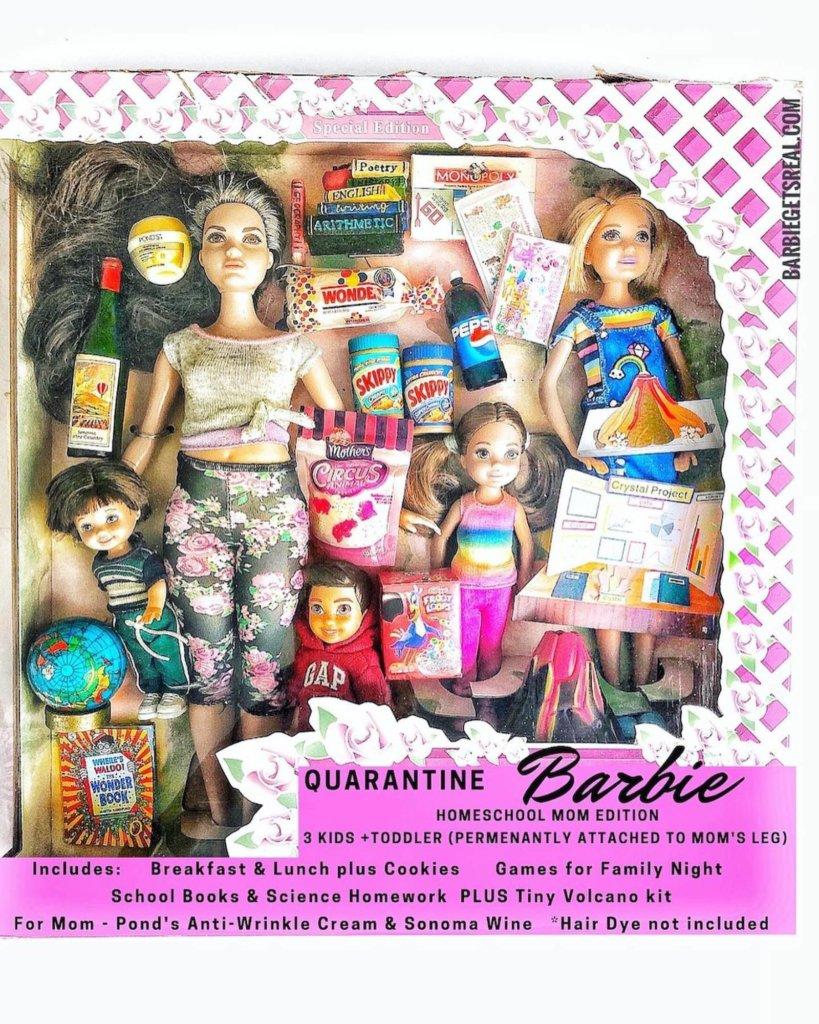 La Barbie maîtresse d'école à la maison