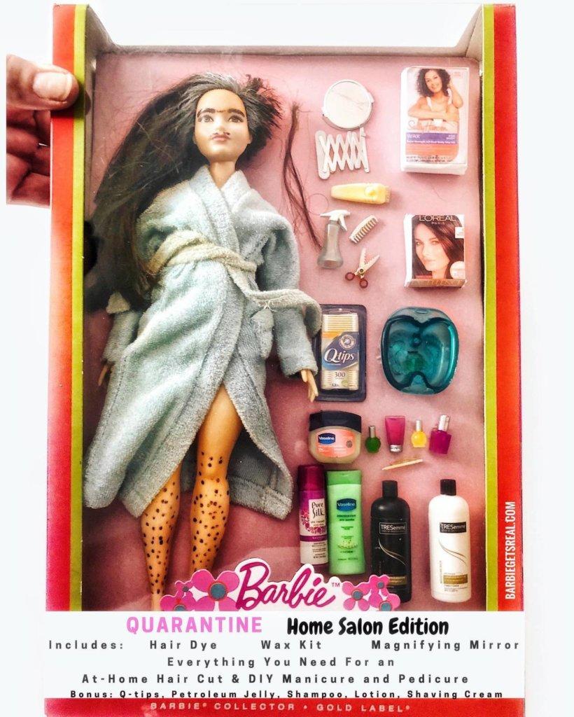 La Barbie qui prend soin d'elle