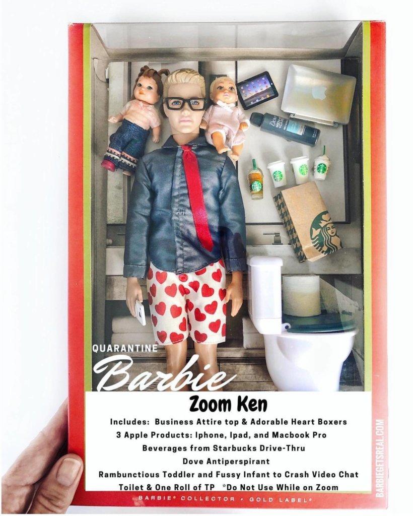 le Ken qui télétravaille et garde des enfants