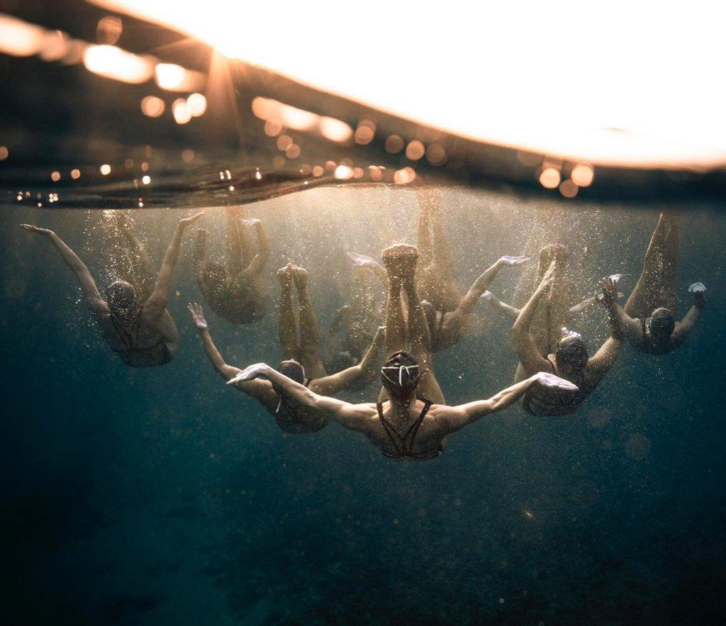 des photos prises sous l'eau