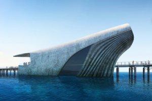 annoncé comme le plus grand observatoire du pays, qui aura la particularité, en plus d'avoir la forme d'une baleine, d'être semi immergé.